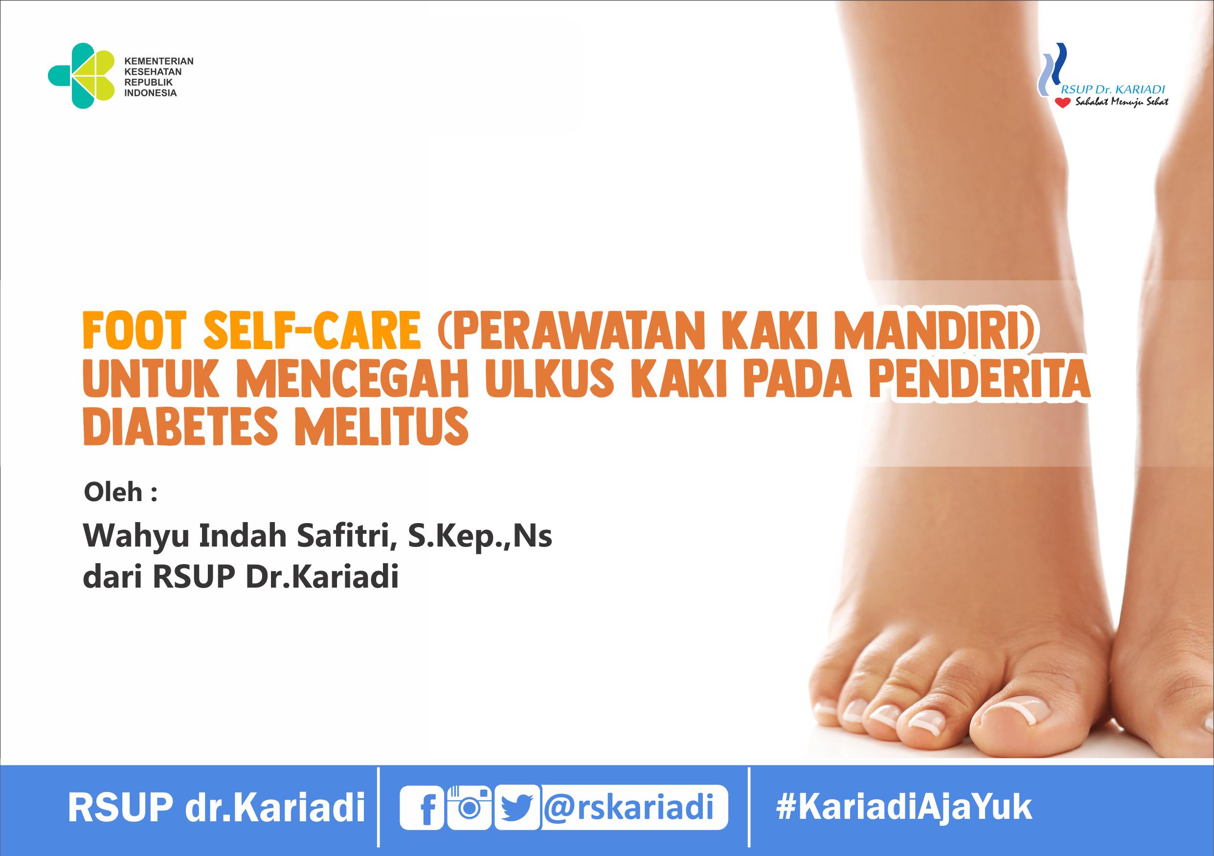 Foot Self Care Cegah Ulkus Kaki Diabetes