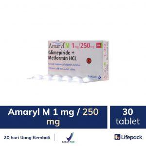 Amaryl 1 mg 250 mg