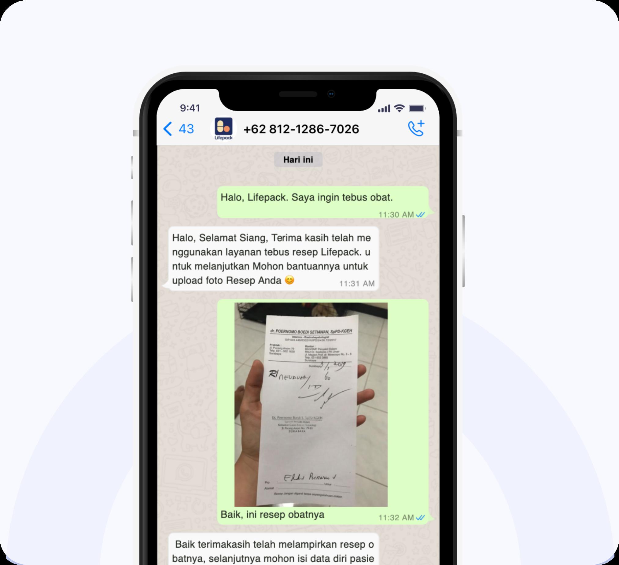 Tata Cara Tebus Obat Via Whatsapp Step 3