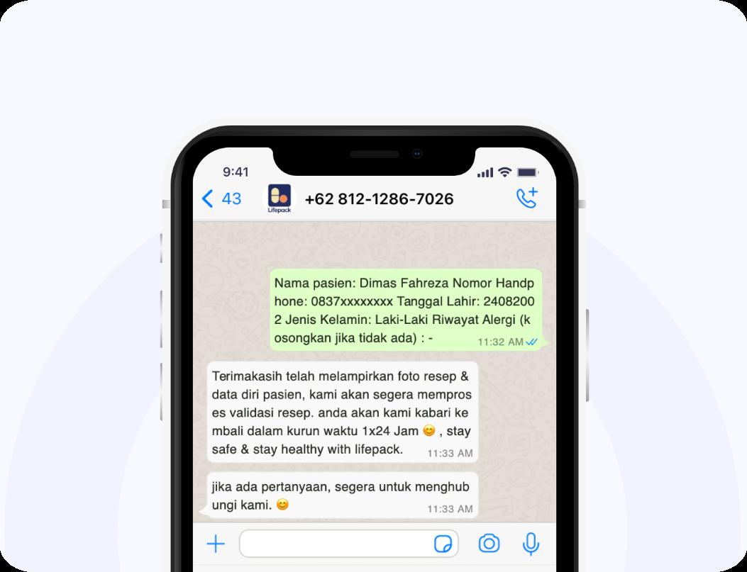 Tata Cara Tebus Obat Via Whatsapp Step 4