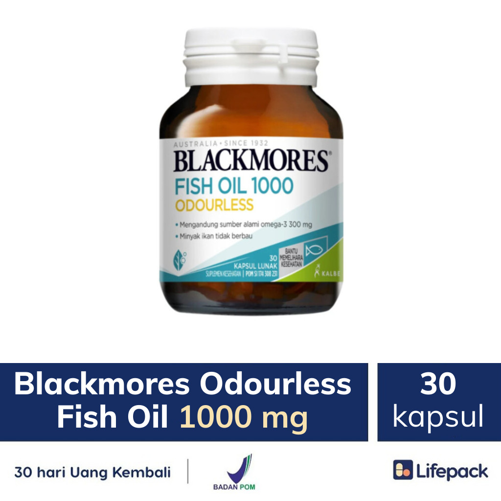 Blackmores Odourless Fish Oil 1000 mg - Lifepack.id