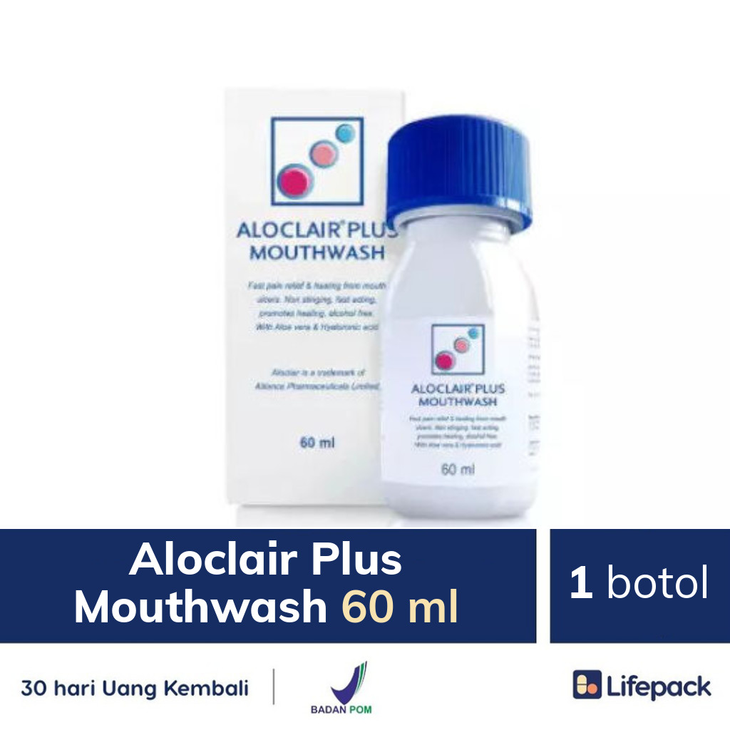 Aloclair Plus Mouthwash 60 ml - Lifepack.id