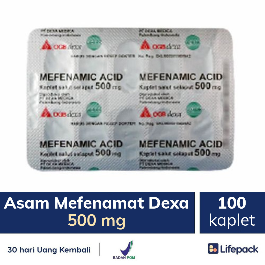 Asam Mefenamat Dexa 500 mg - Lifepack.id