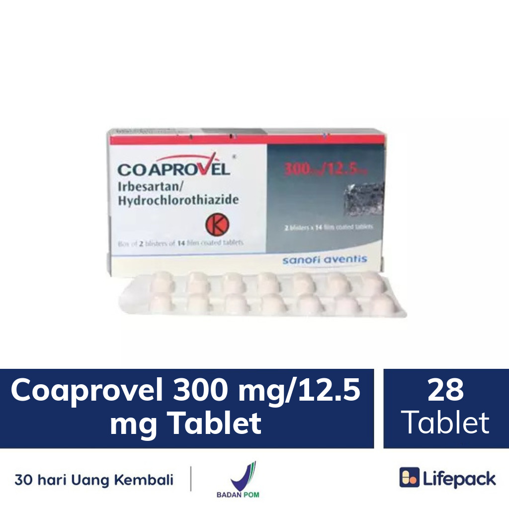 Coaprovel 300 mg/12.5 mg Tablet - Lifepack.id