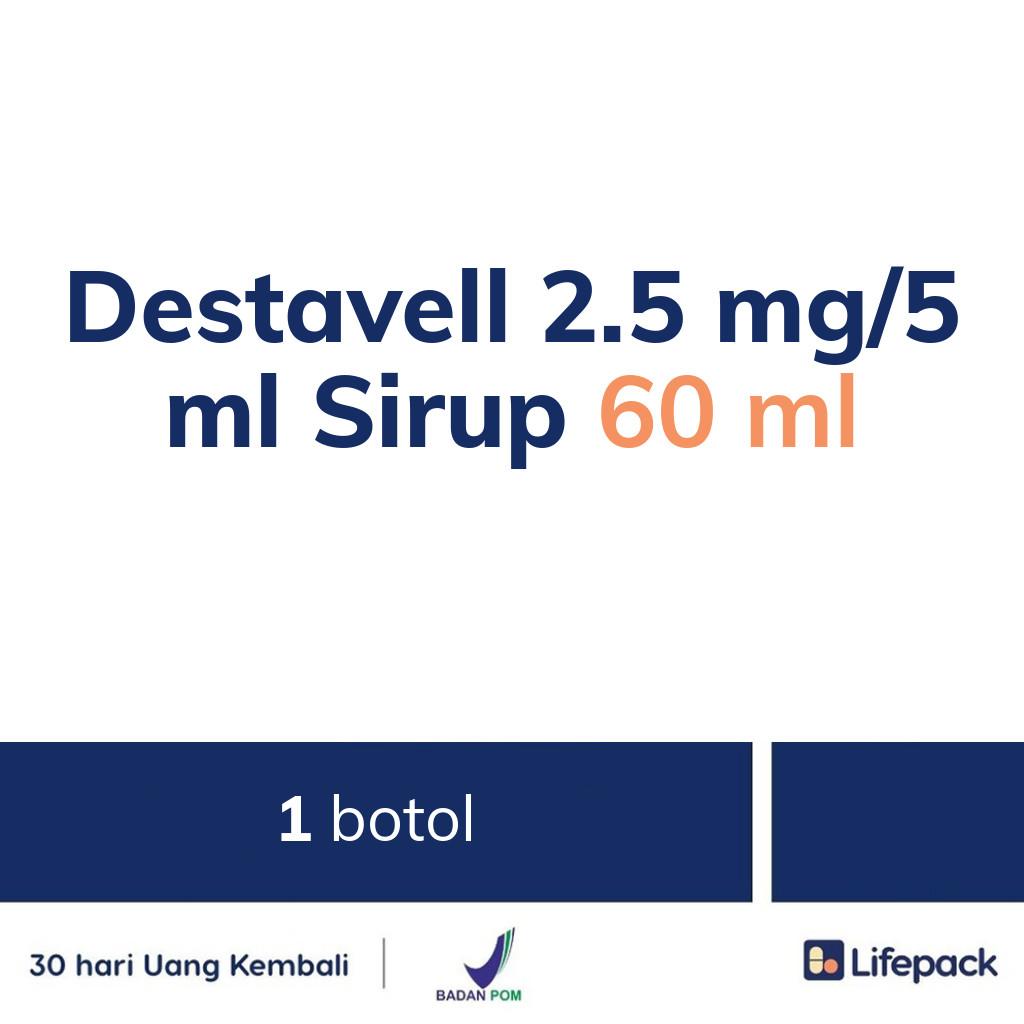 Destavell 2.5 mg/5 ml Sirup 60 ml - Lifepack.id