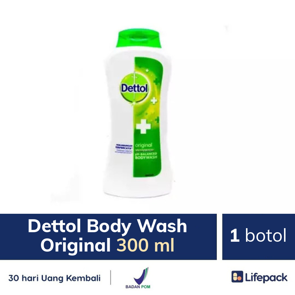 Dettol Body Wash Original 300 ml - Lifepack.id