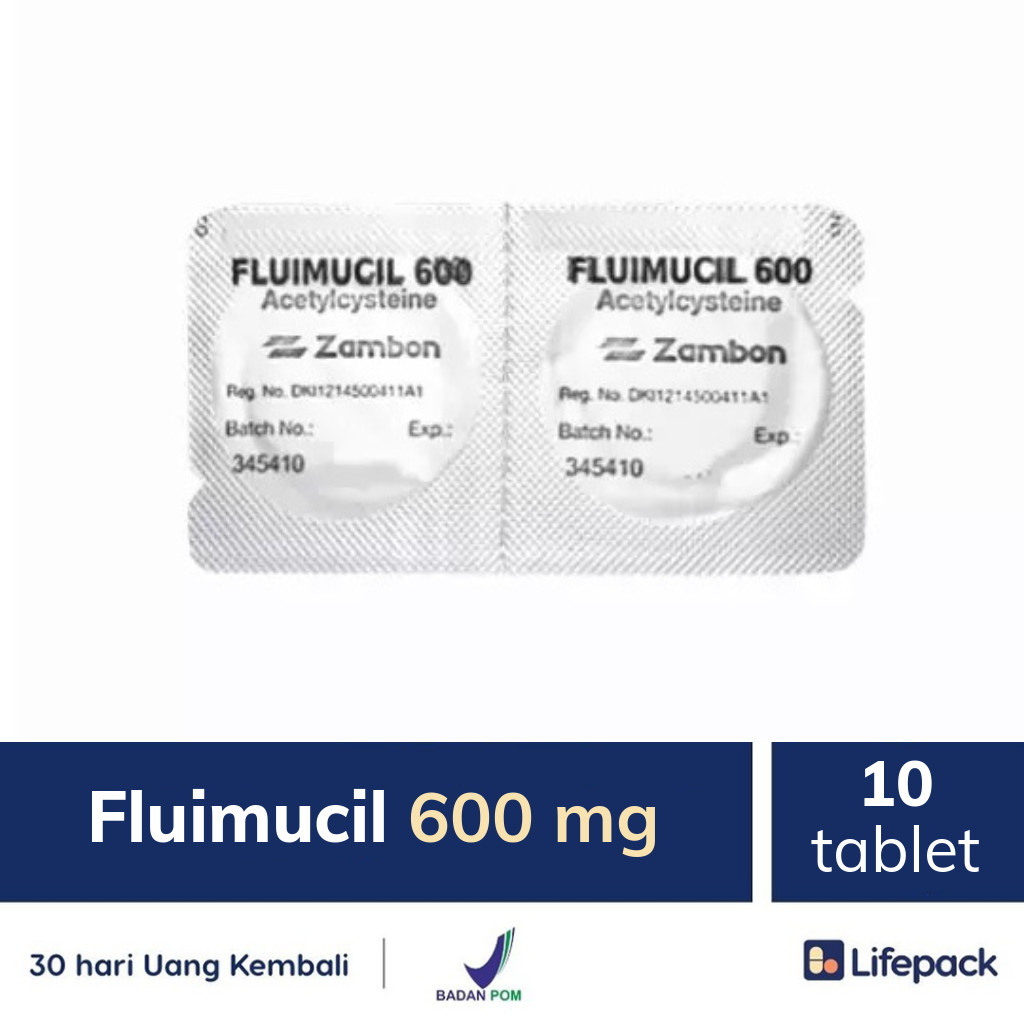 Fluimucil 600 mg - Lifepack.id