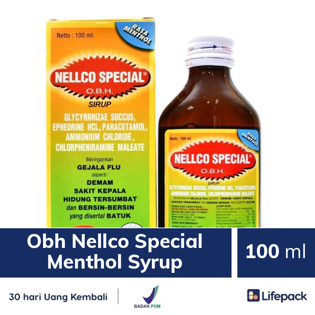 Obh Nellco Special Menthol Syrup - Lifepack.id